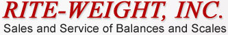 RITE-WEIGHT, INC. - Sales and Service of Balances and Scales